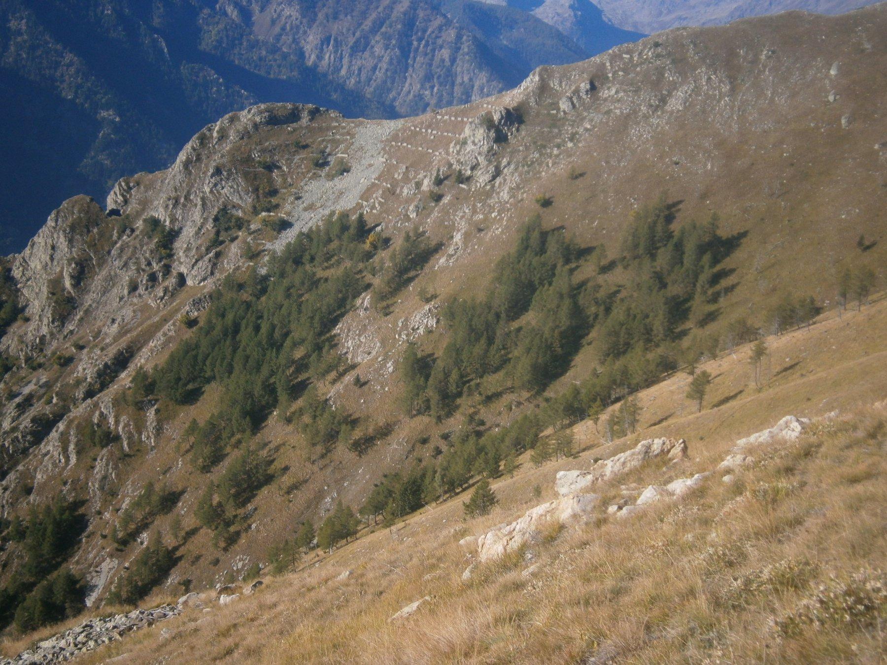 Punta Ventabren da dove si lascia il sentiero PBM