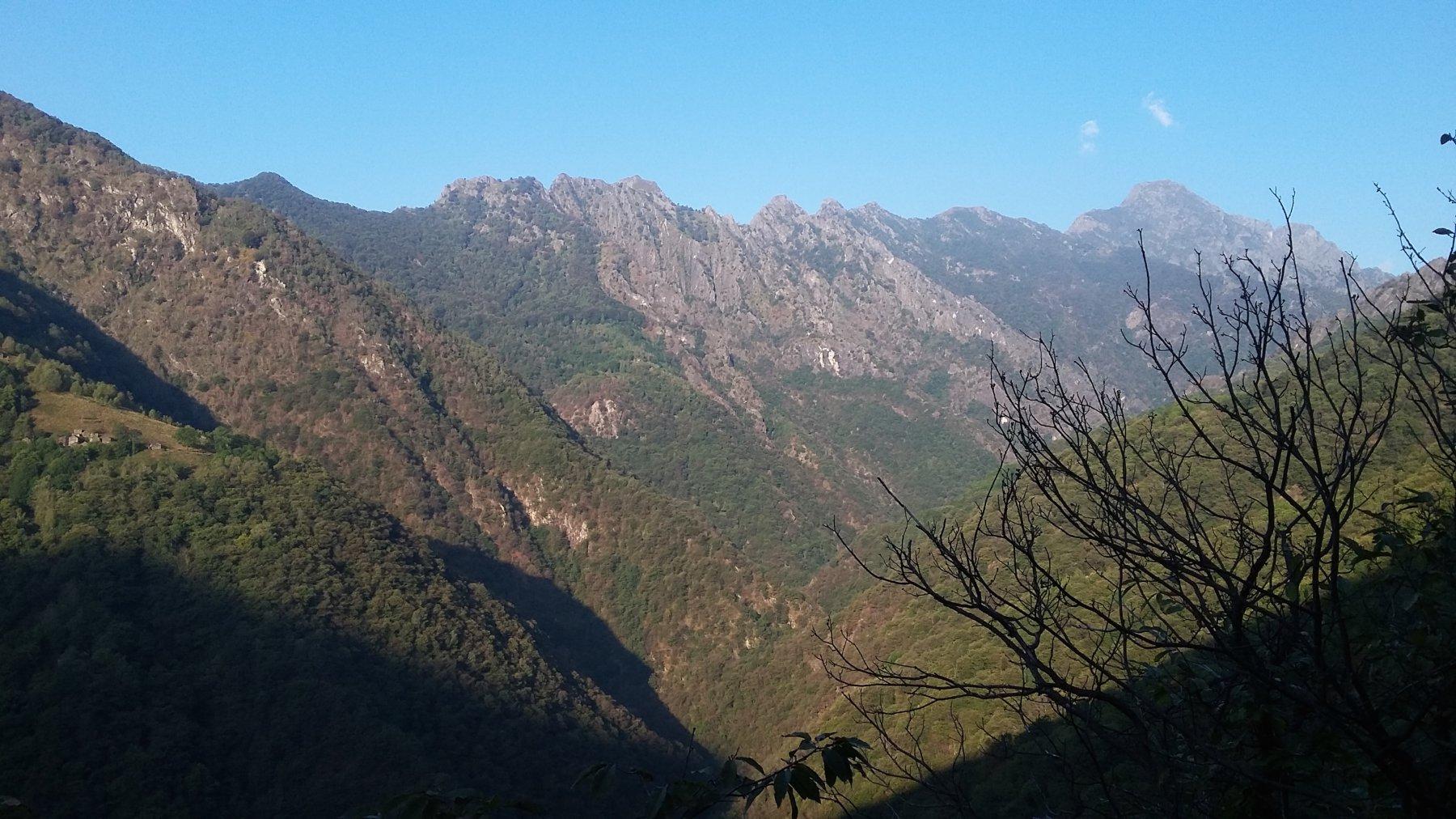 dai Corni di Nibbio al Proman con l'Alpe Bettina in basso