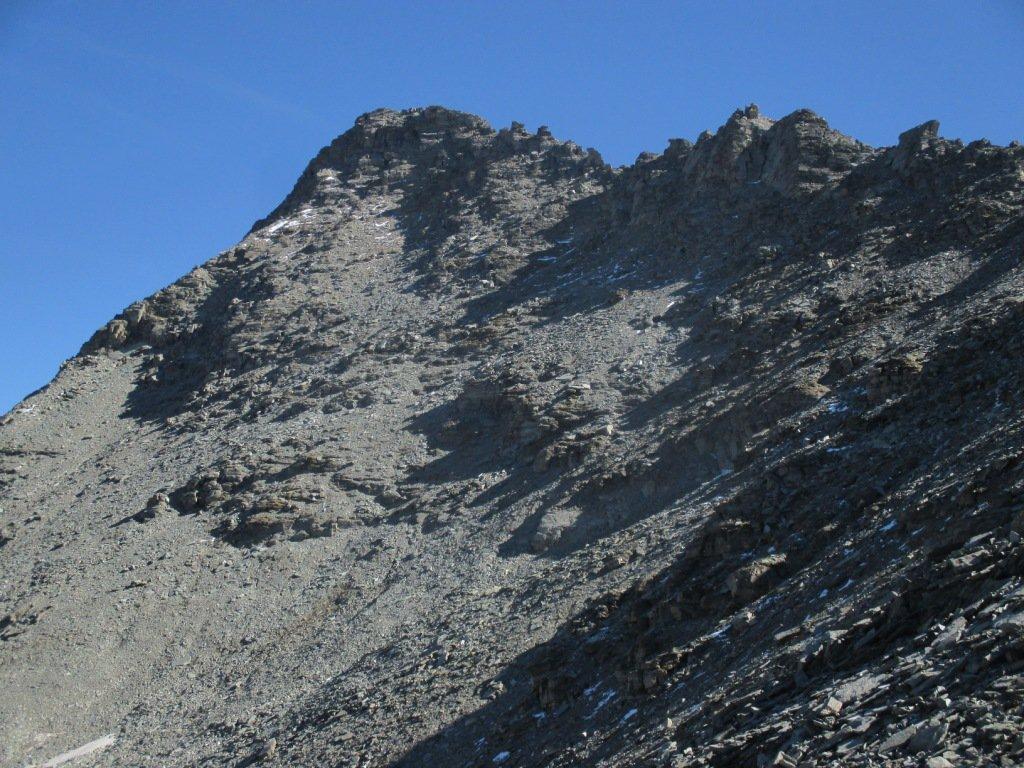 parte della cresta salendo