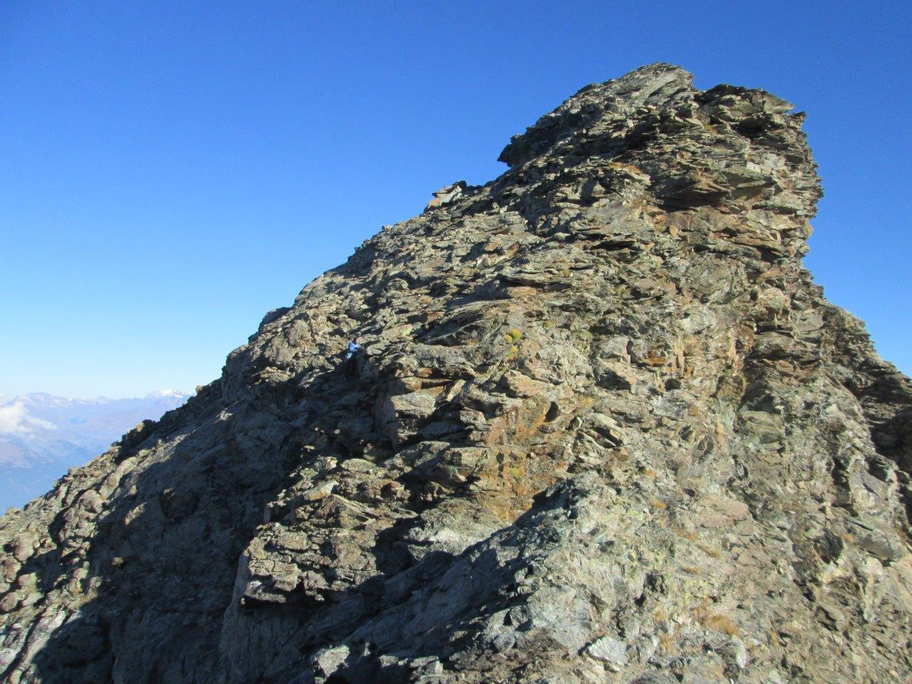 Cima Nord dell'Orsiera con il versante di salita