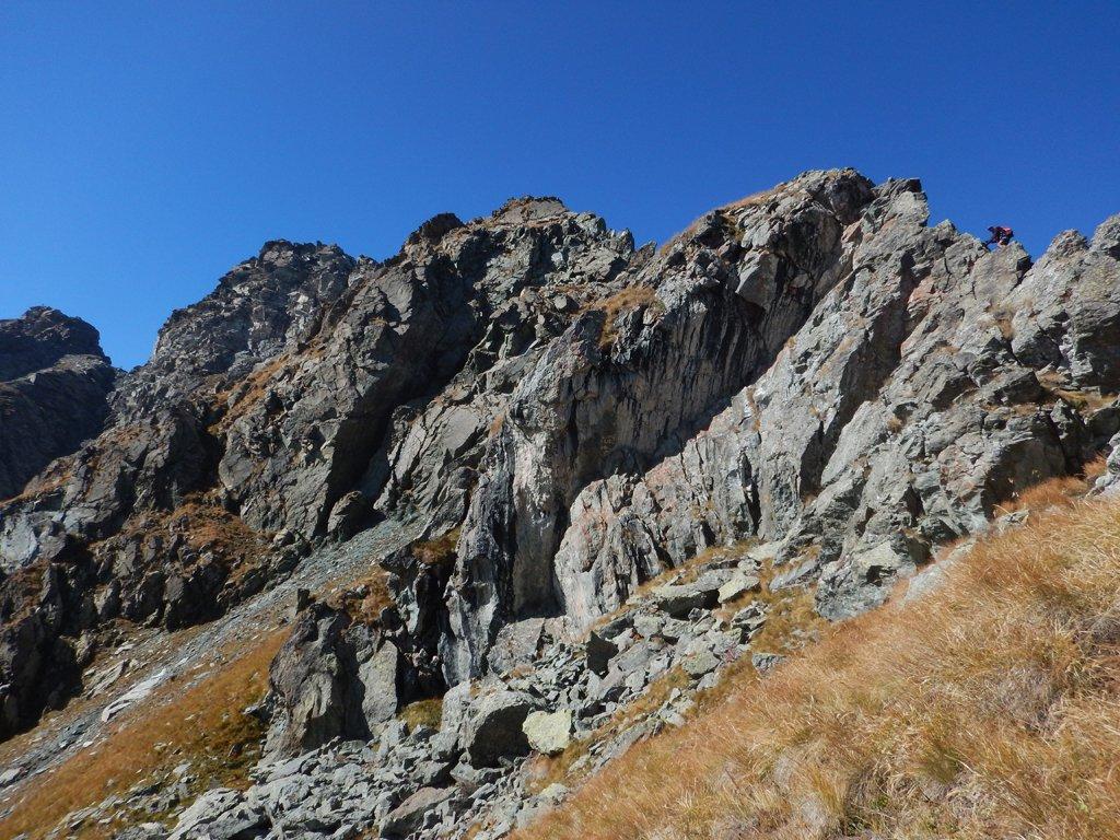 Vista della cresta dal colle Ciardonnèt