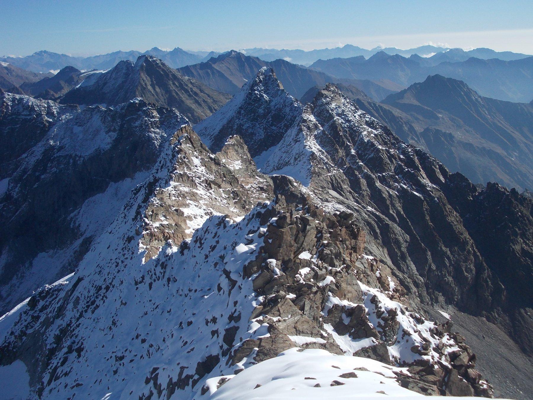Torre di Lavina, Monveso di Forzo e Roccia Azzurra dalla Punta delle Sengie