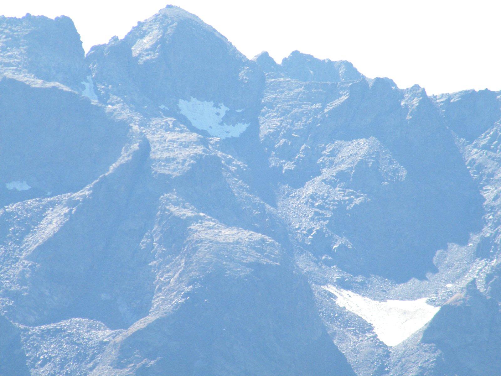 testa dell'ubac e resti del ghiacciaio