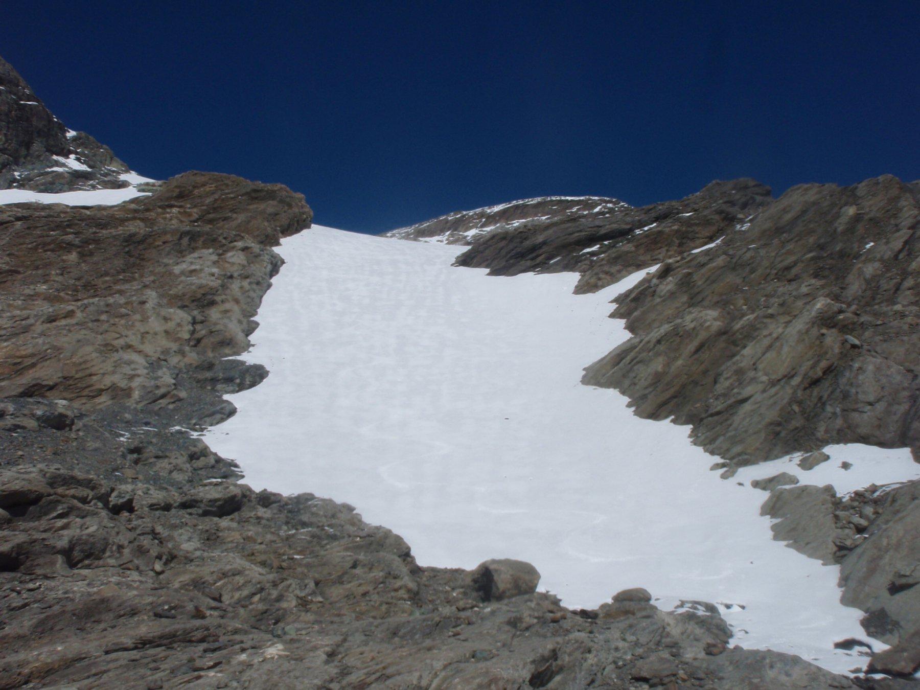 parte iniziale del ghiacciaio