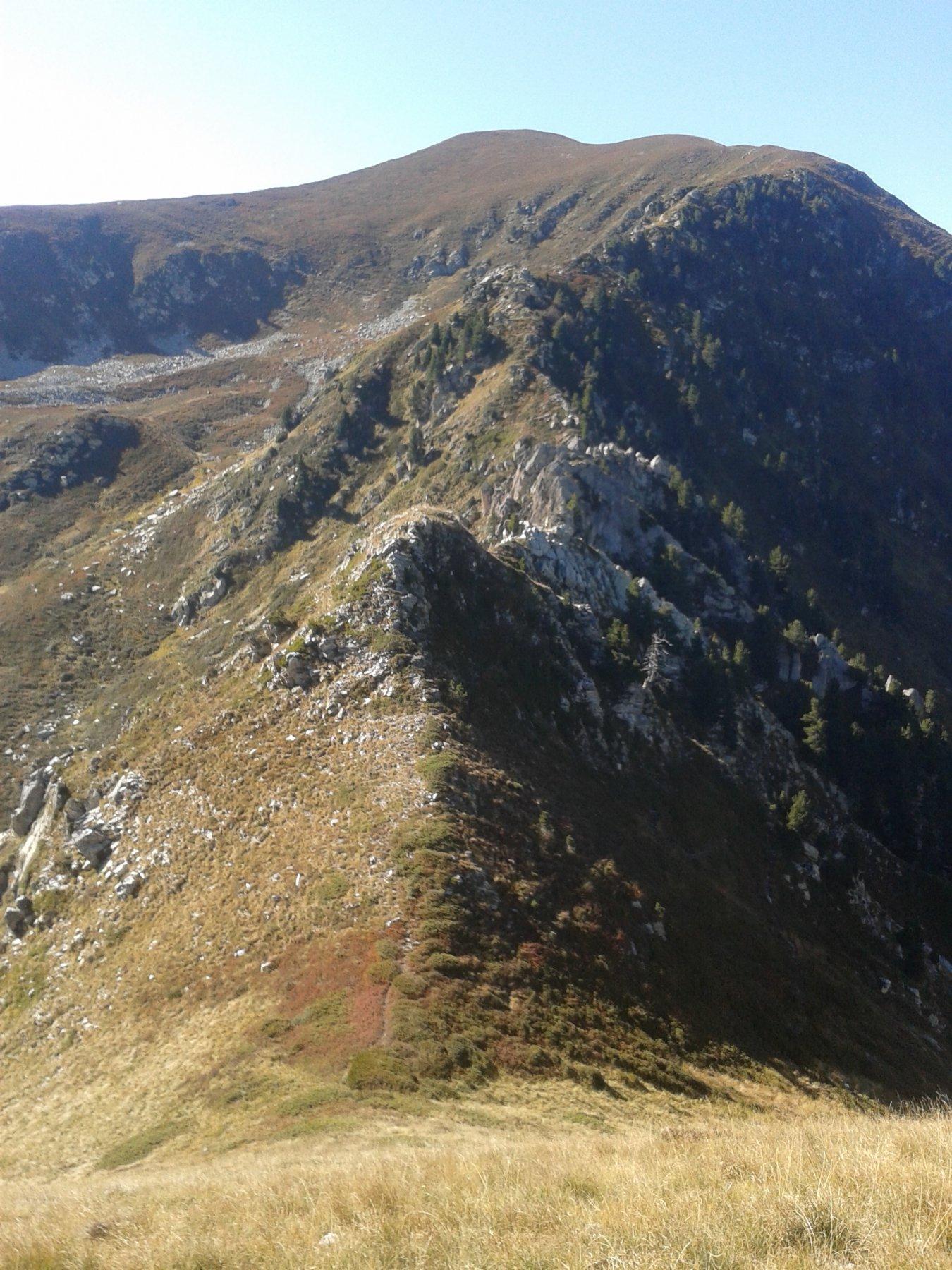 cresta vista dalla cima di s. lorenzo