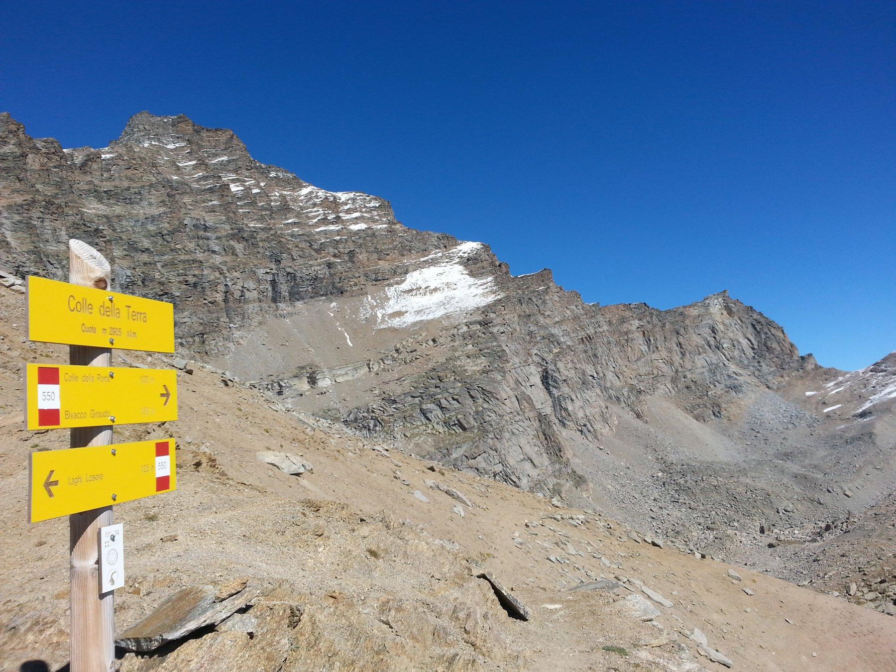 Arrivo al colle della Terra  (2905 m)