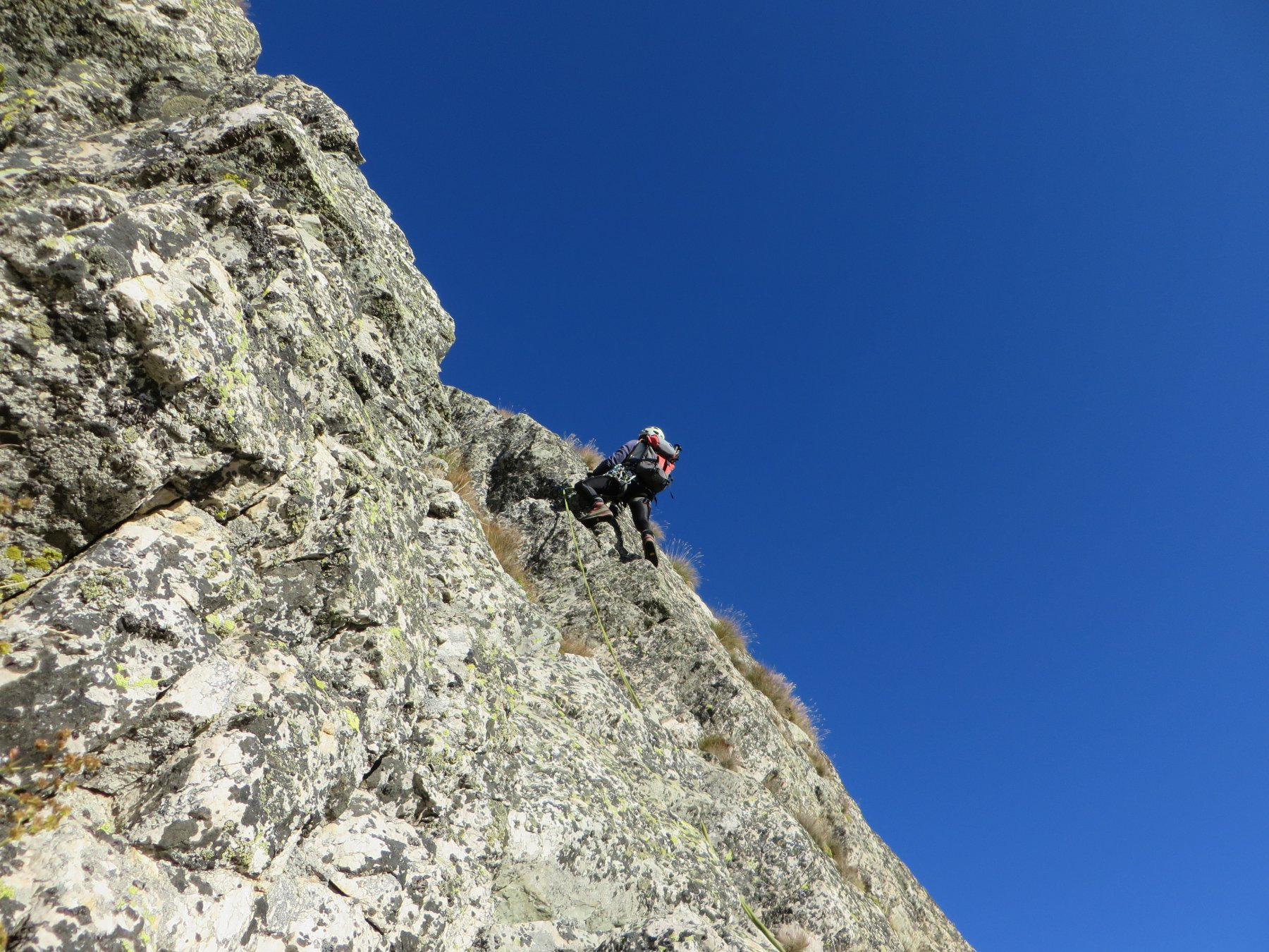Ultimi metri per guadagnare Punta Emma