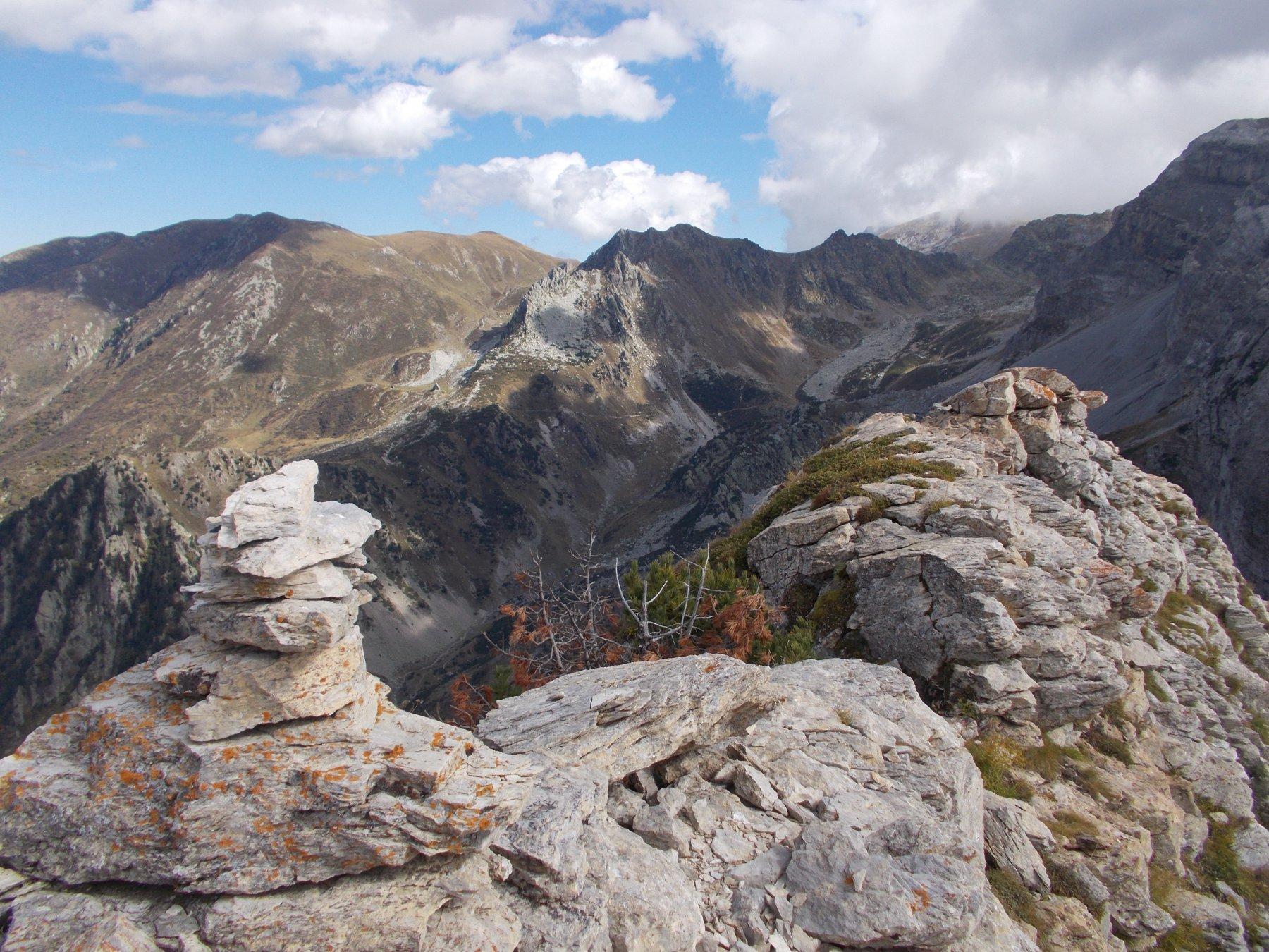 sul punto culminante delle Rocce Scarason..