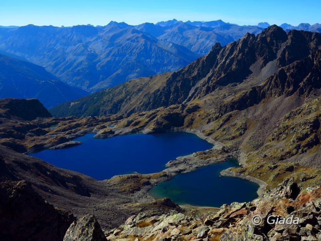 Il lago di Rabuons dalla cima
