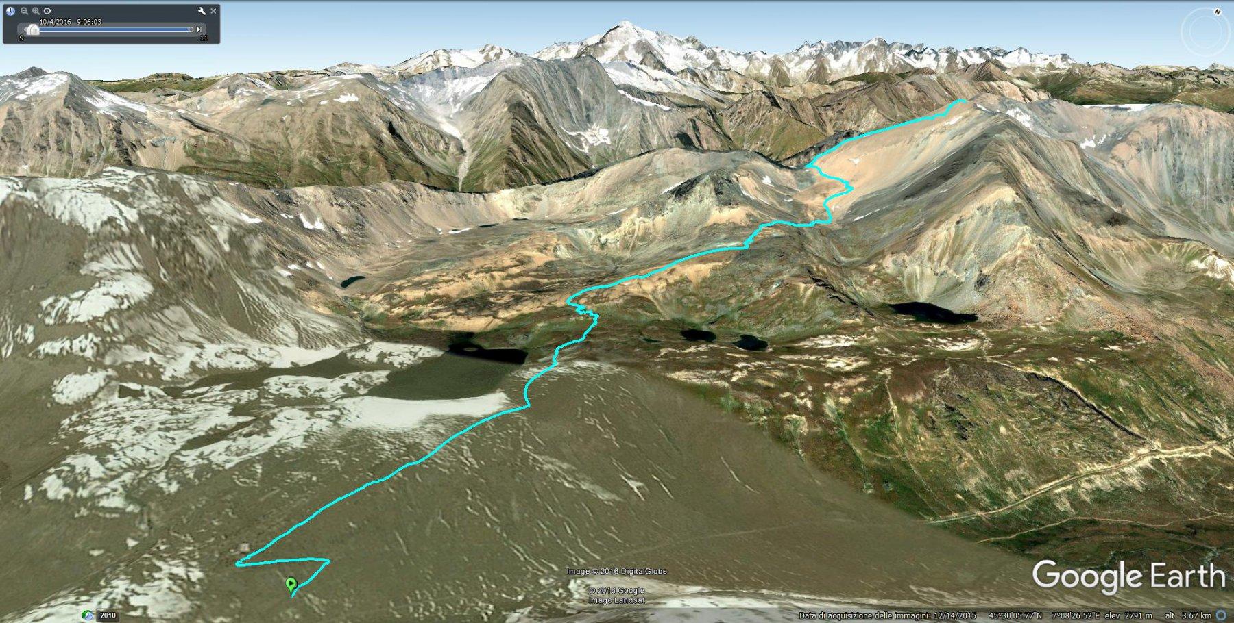 vista 3D del percorso