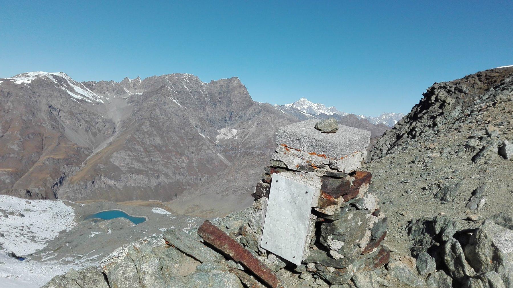 colle Leynir, Monte Bianco sullo sfondo