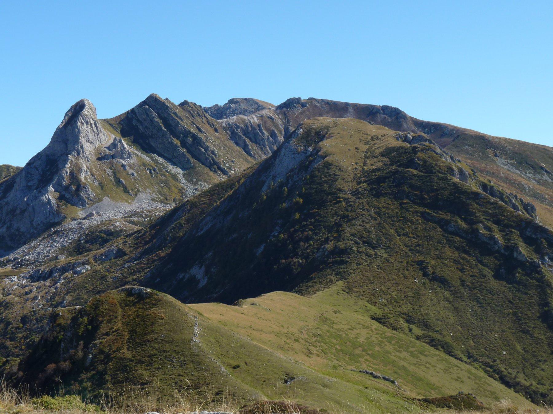 Dorsale appena scesa vista dal Monte Grosso