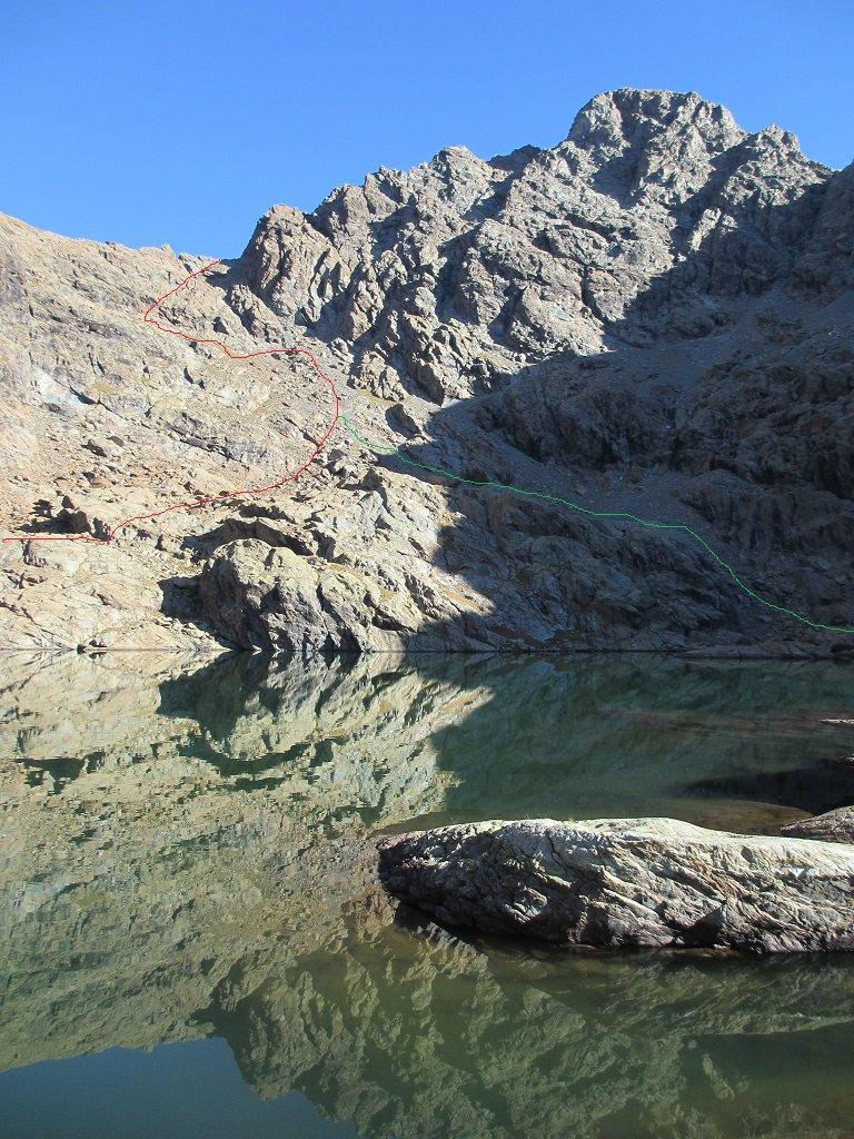 Dal lago Mercurin aggirandolo a dx o sx la via a salire in cresta