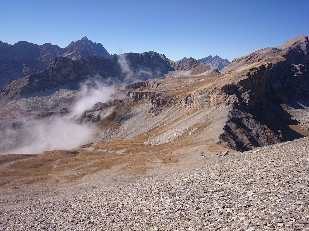 Scorcio dalla vetta del vallone Maurin e del colle Bellino