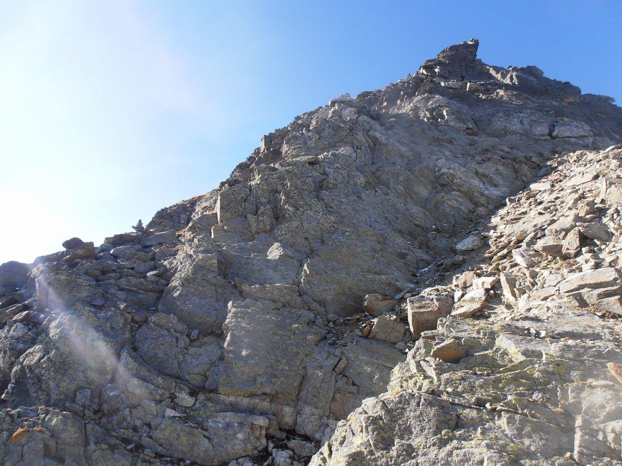 06 - primi passaggi lungo la cresta NE