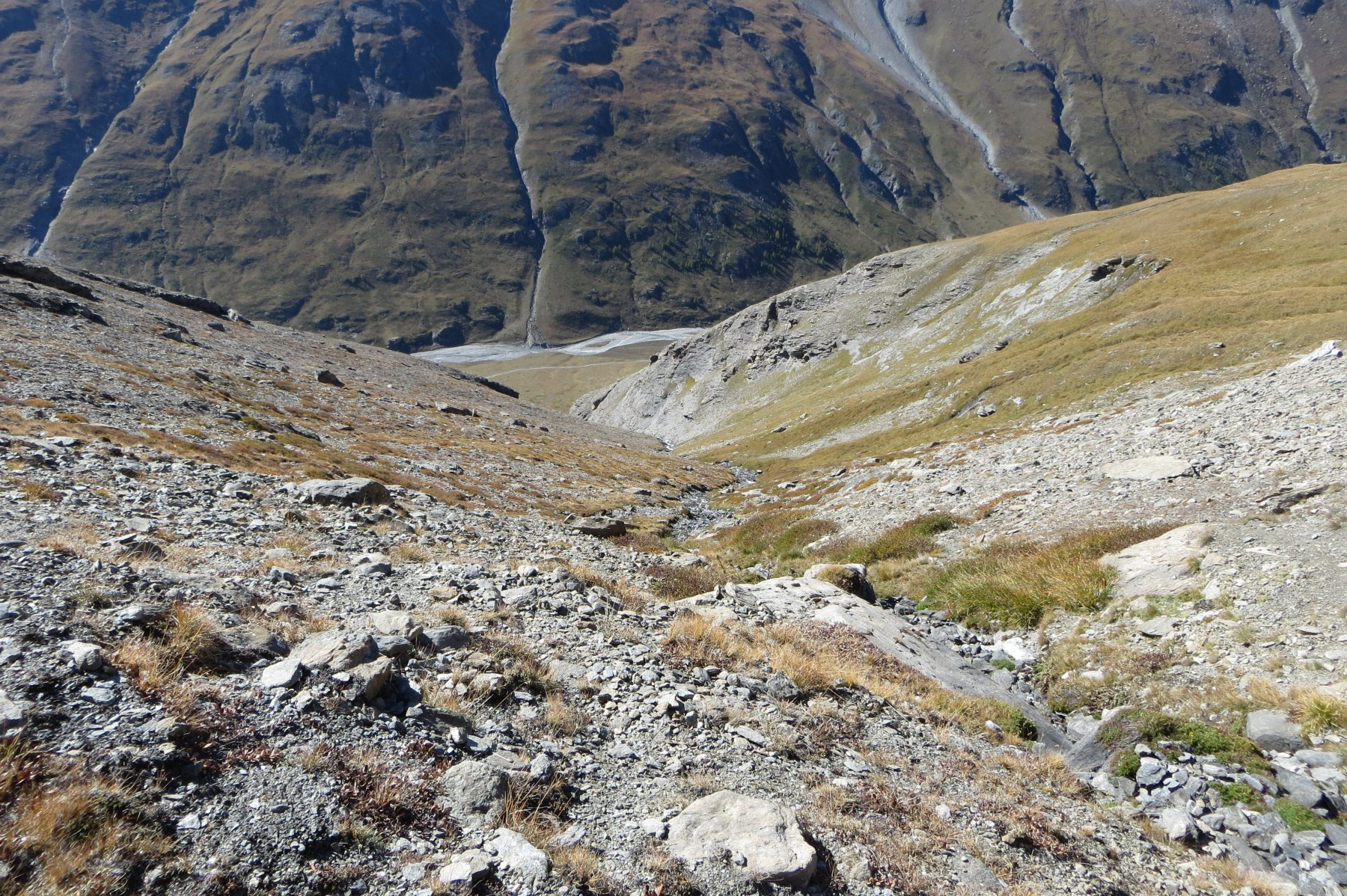 l'impluvio del Ruisseau de Saulcier verso l'uscita
