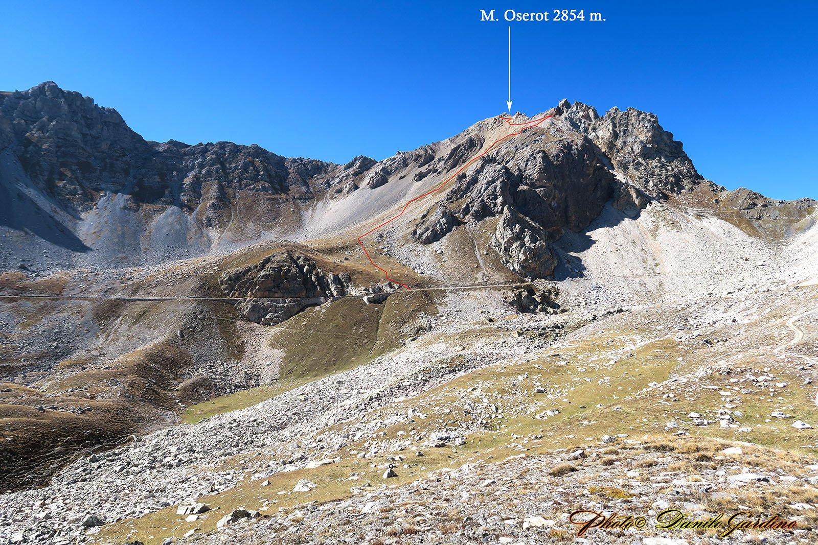 Il Monte Oserot e il sentiero di risalita