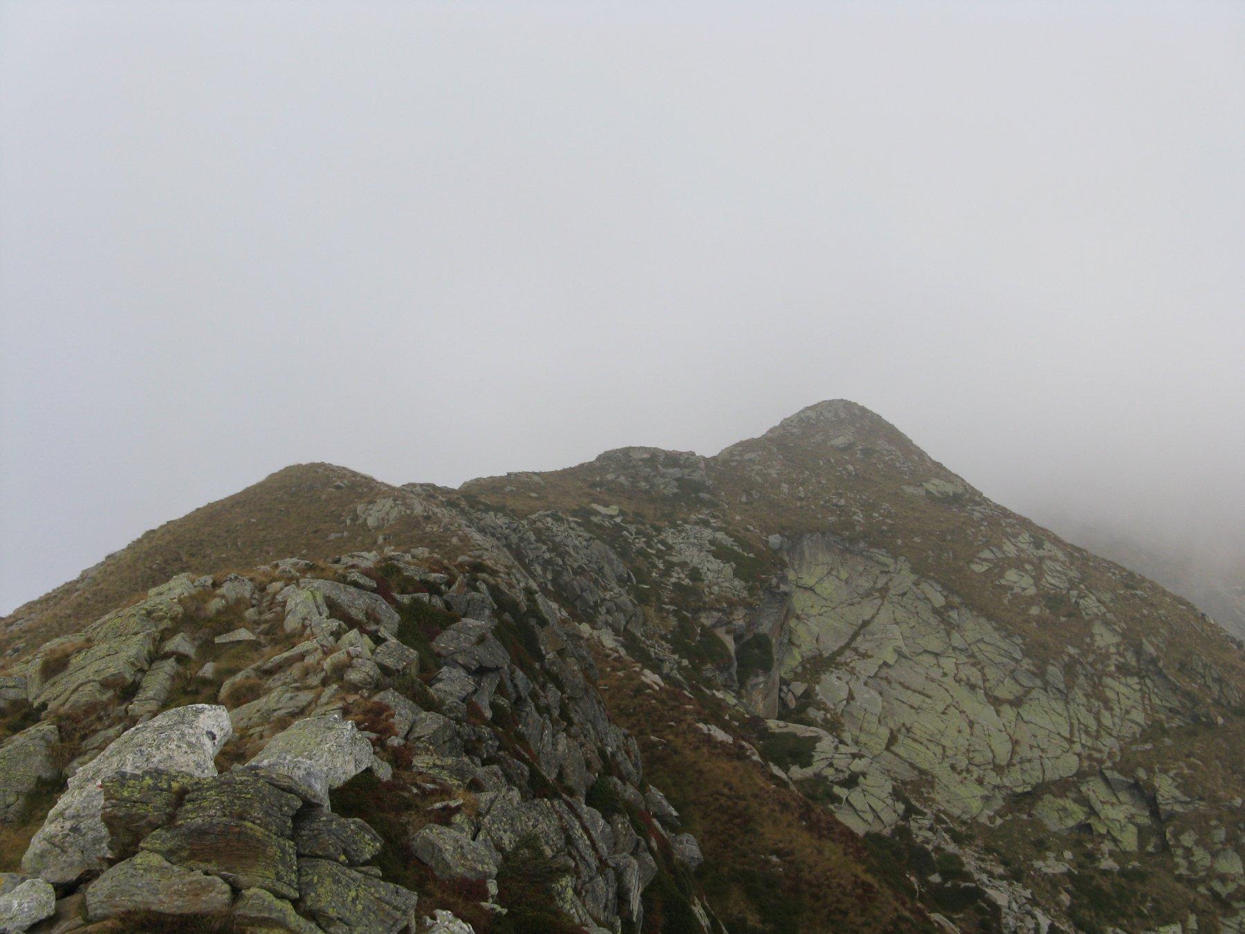 la punta Nord con la cresta di collegamento