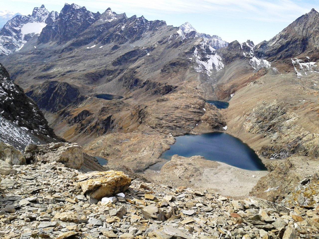 I laghi visti dal colle Vofrède