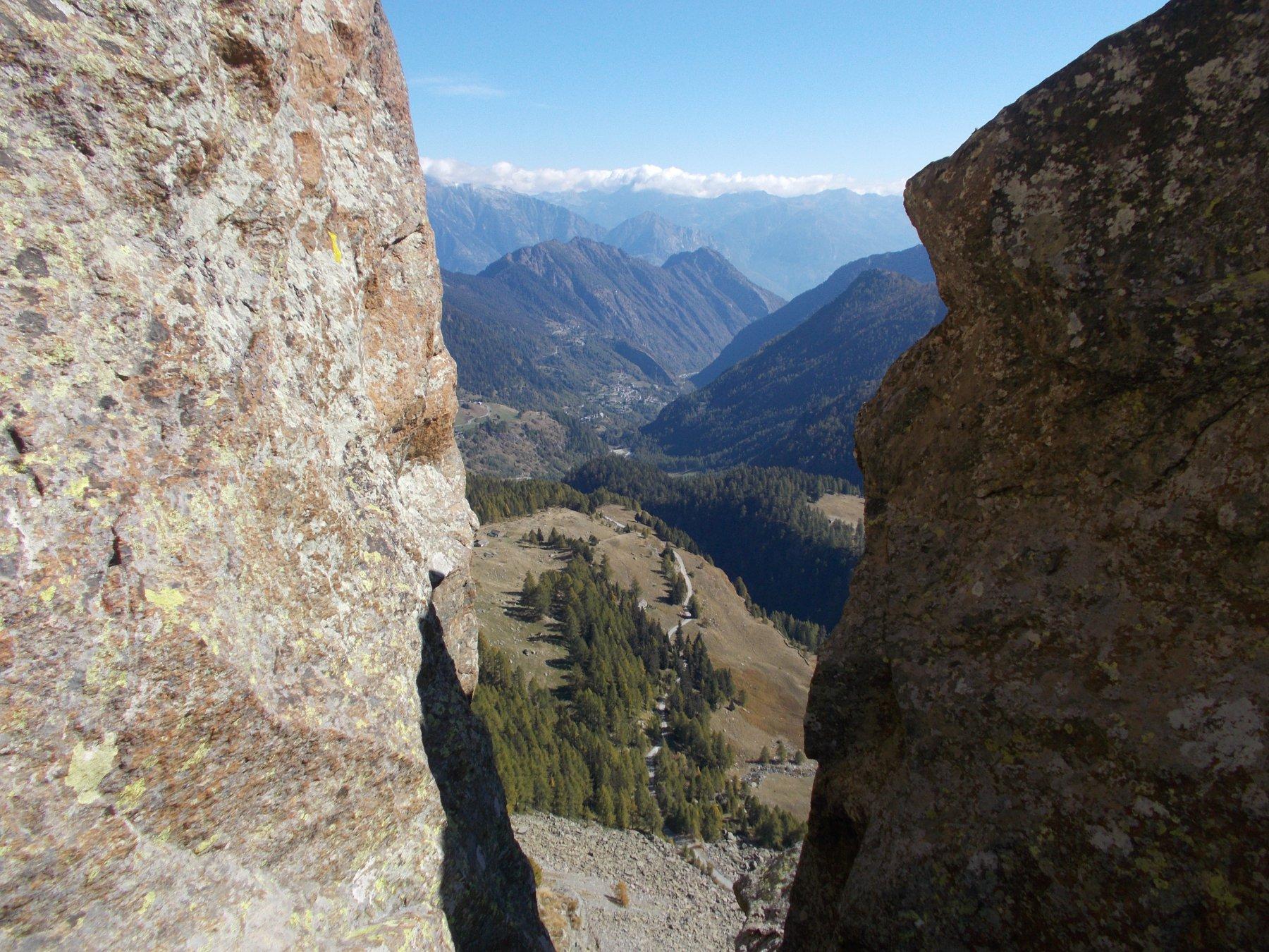 uno sguardo a valle..aiuta ad allentare la tensione..