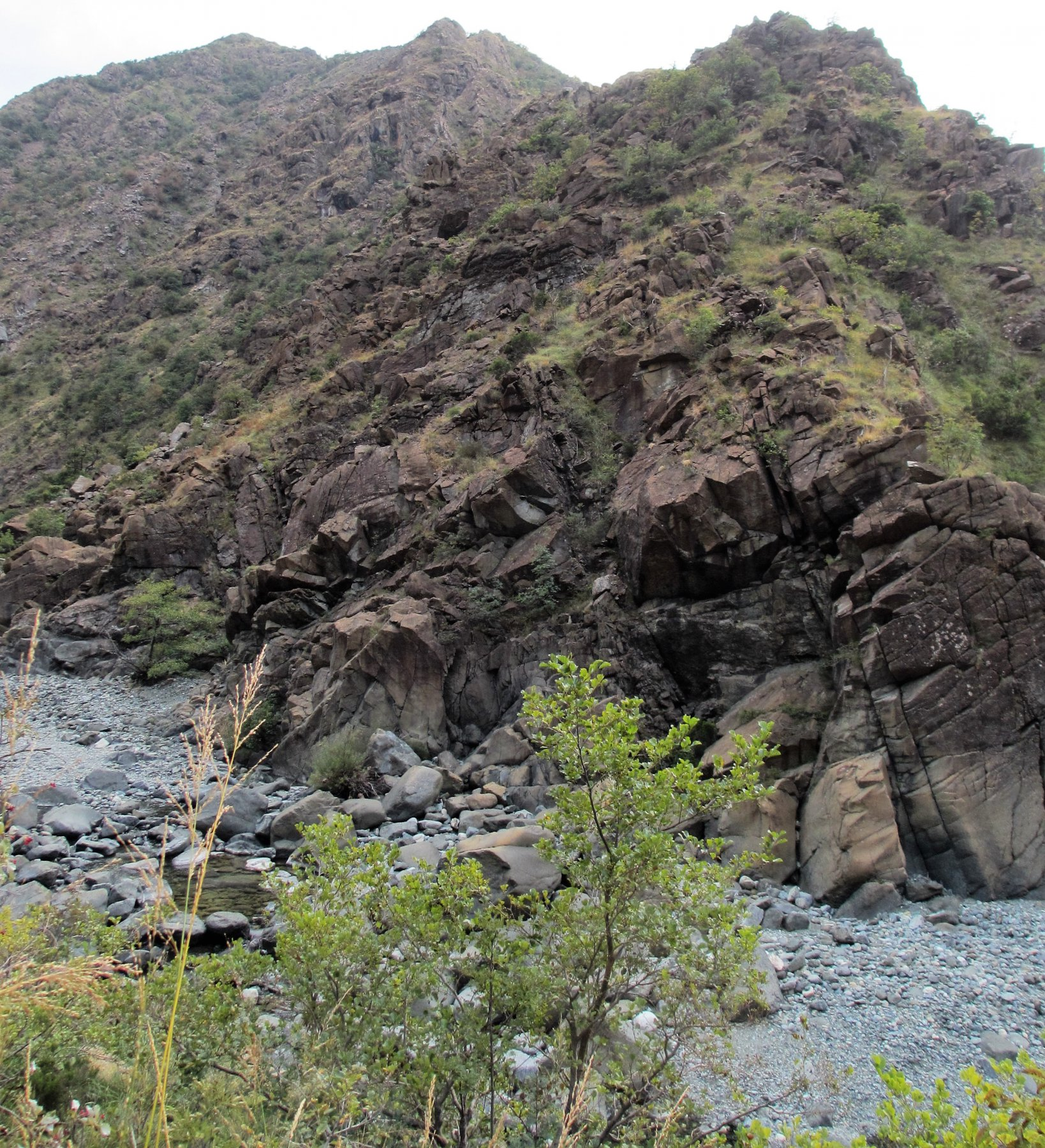 L'inizio della cresta del monte Tugello