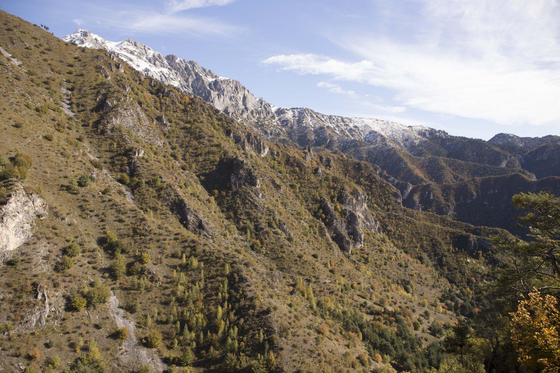 Dal primo punto panoramico, Roccia Agnelliera