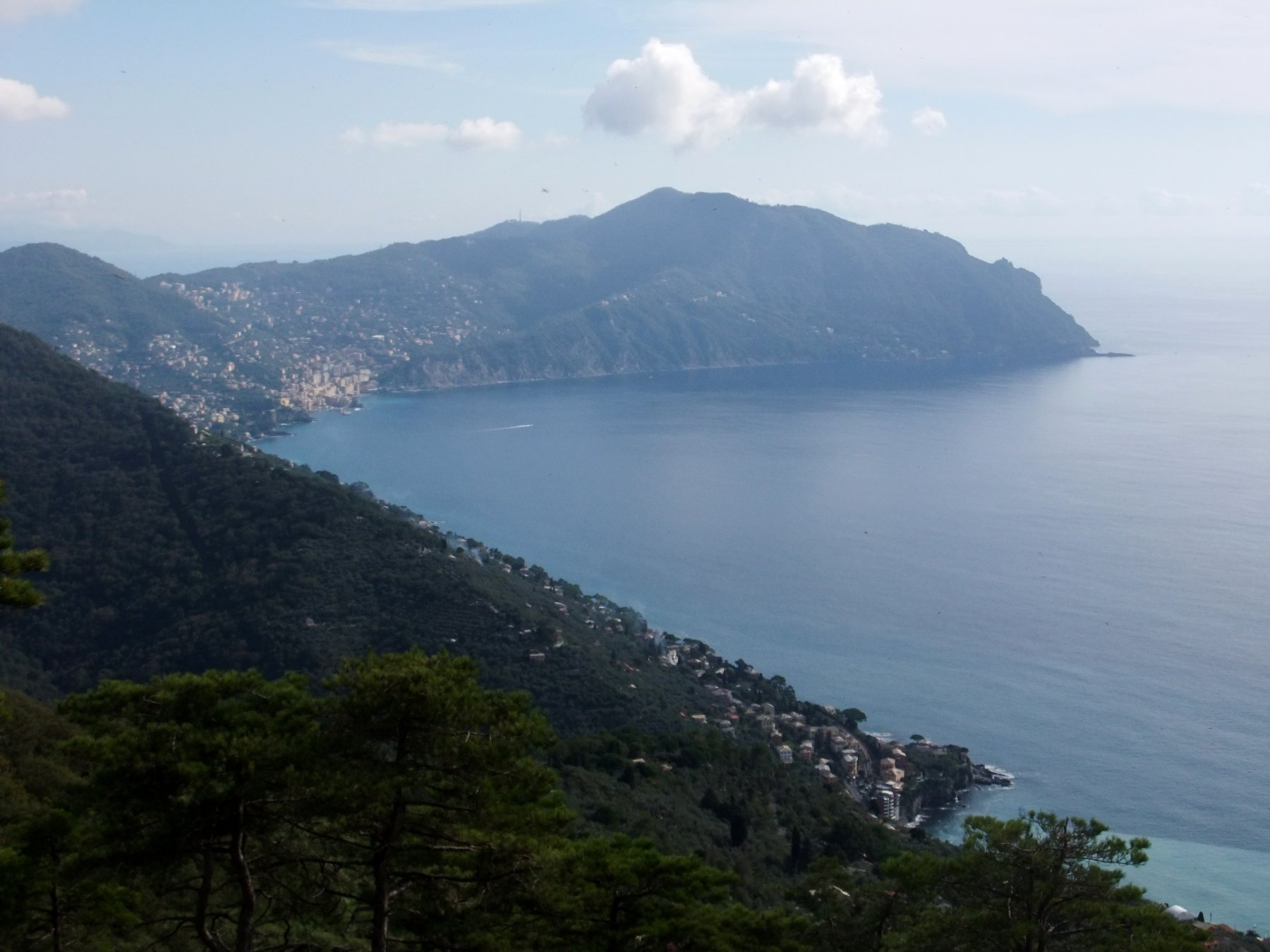 Panorama su Camogli e Monte di Portofino