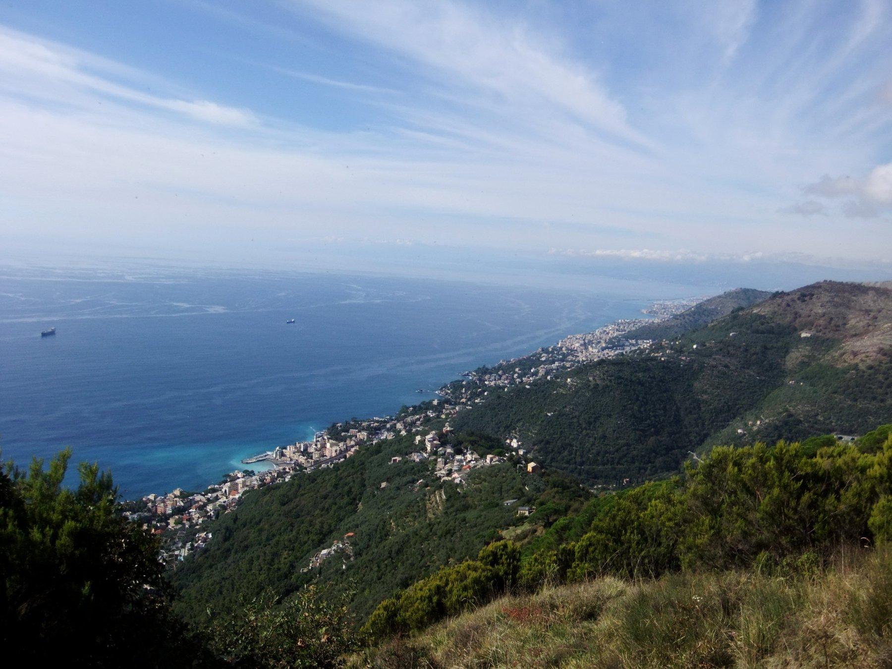Panorama verso Genova