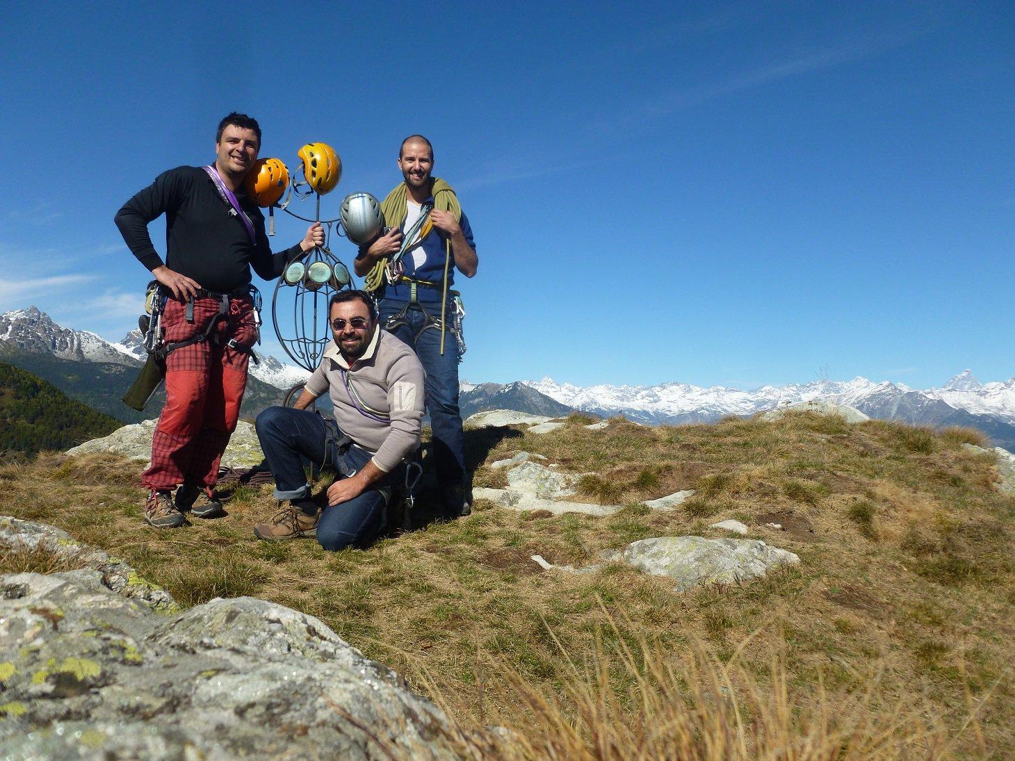 Grandi alpinisti su indomita vetta