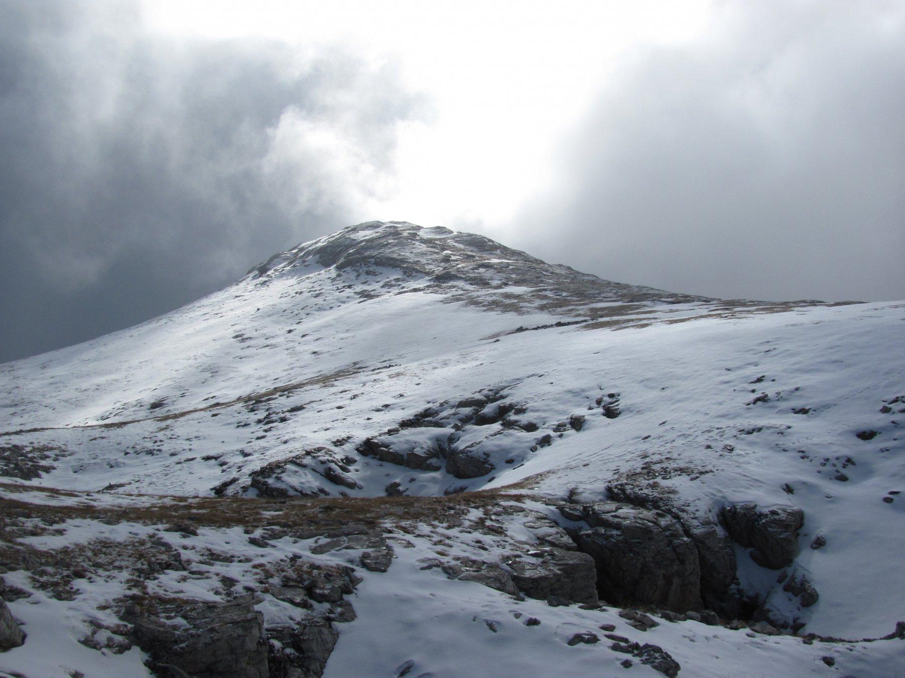 il Monte Rotondo, quasi innevato...