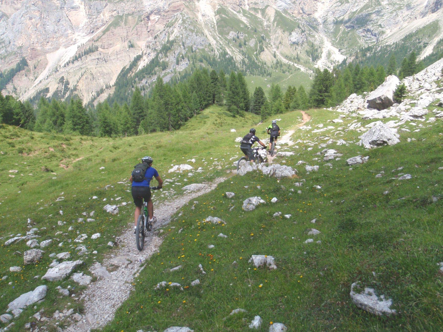 Un altro aspetto del sentiero verso il Rif. Contrin