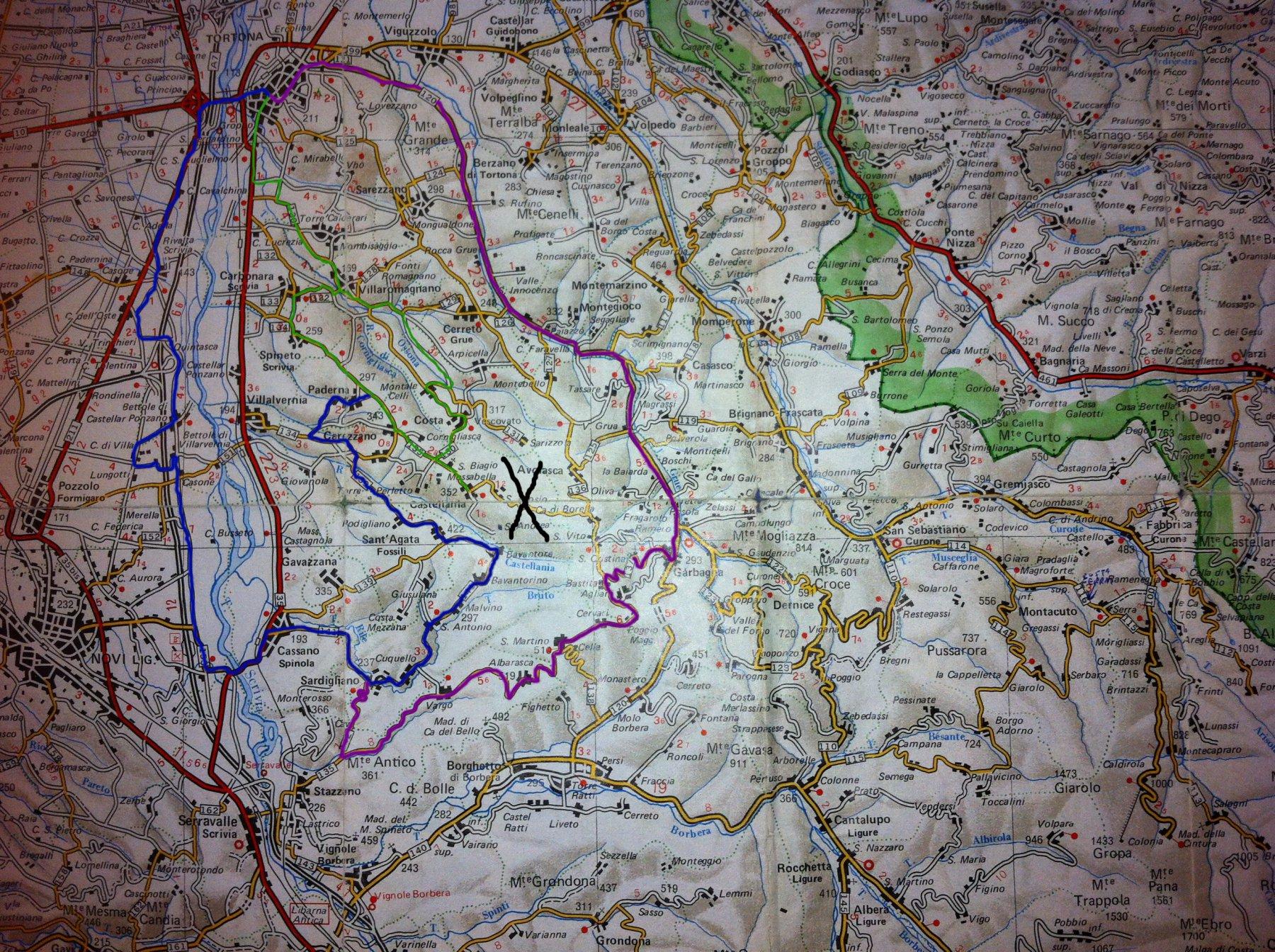 Castellania -casa di Fausto Coppi da Tortona, vari giri 2016-10-22