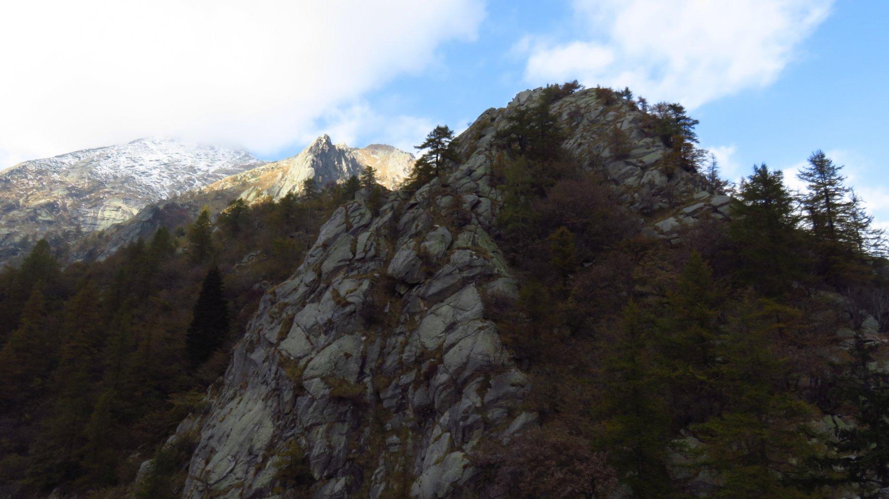 La Cima Lasin, vista dal Becco dell'Aquila