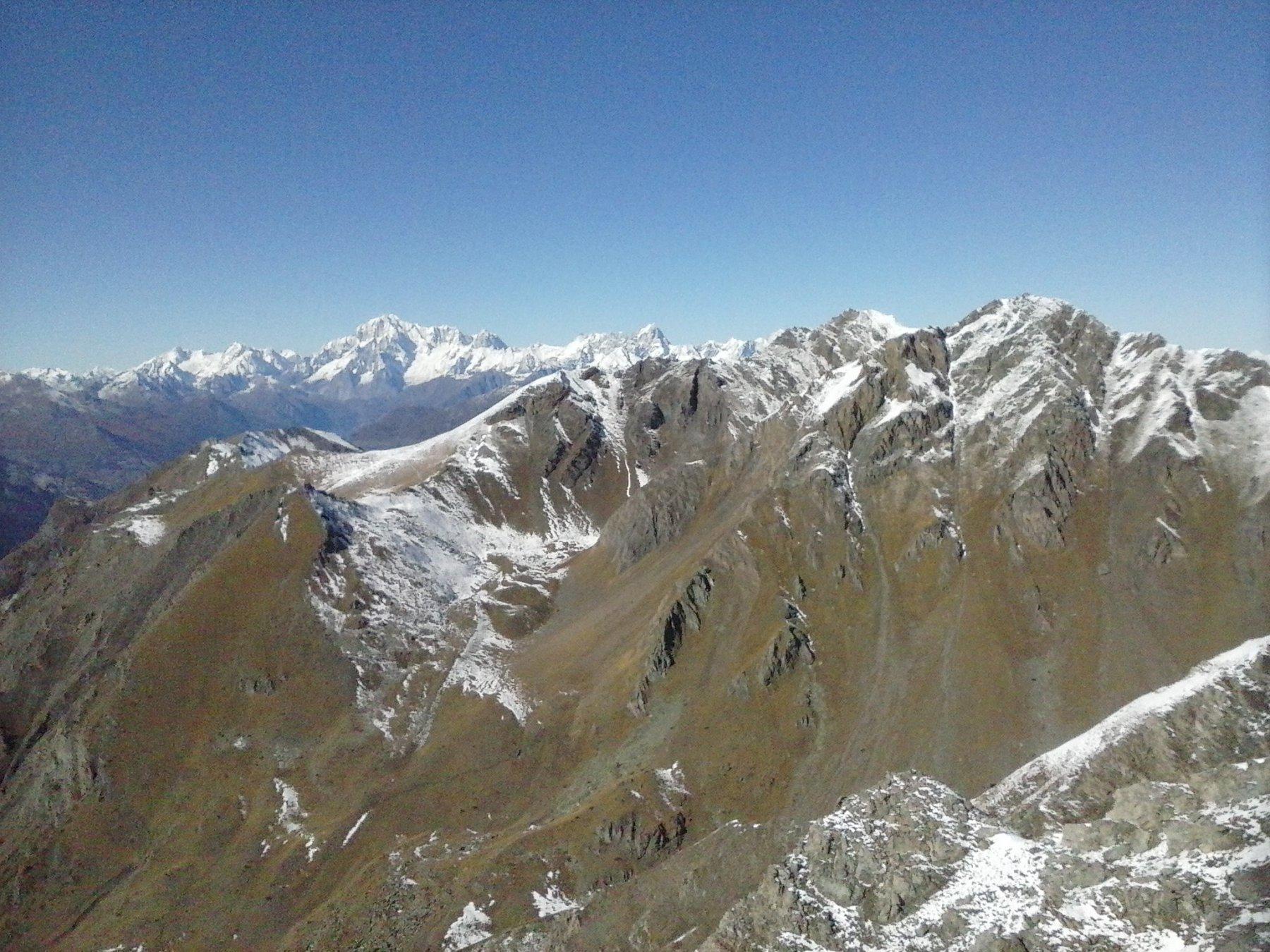 il Monte Bianco dalla vetta...