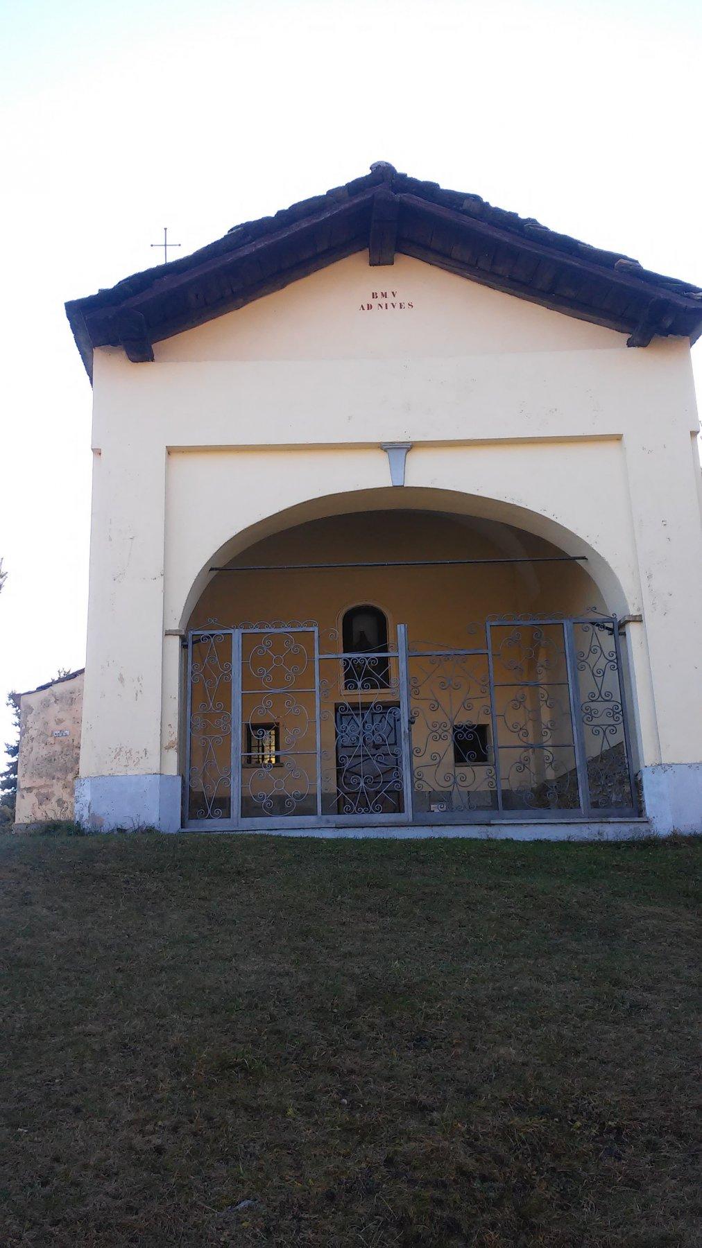 La cappella di Prarotto alla partenza