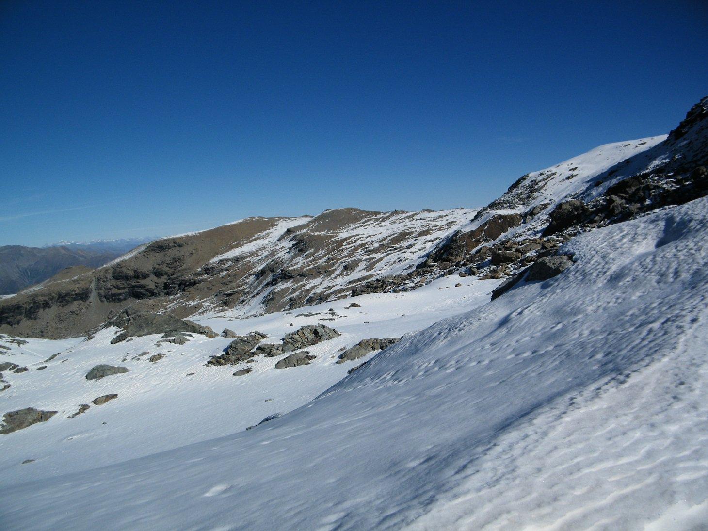Rocca Nera vista dal Colle con le attuali condizioni di innevamento.