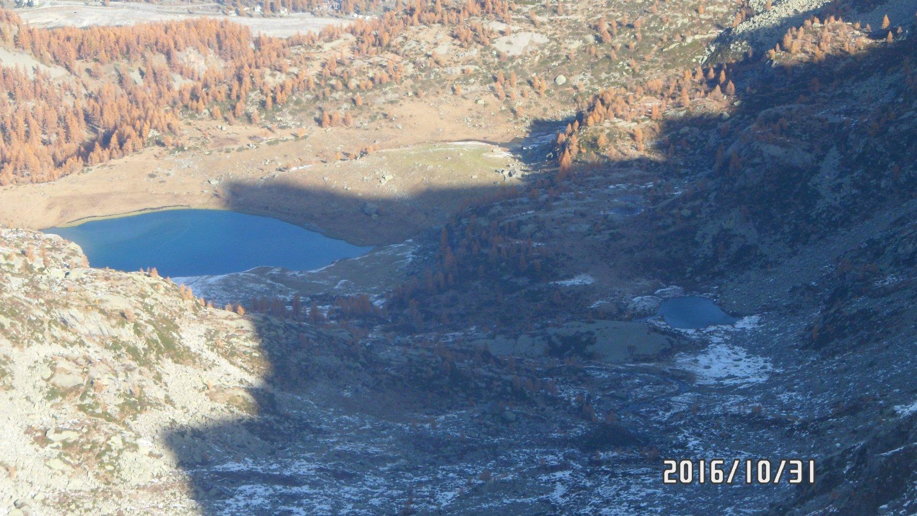 Il lago di Dres a sn dal Barrouard