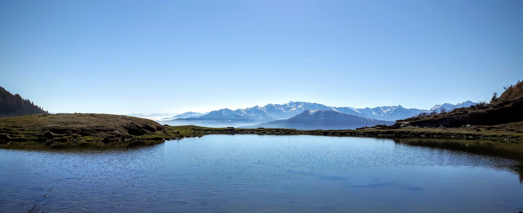 lago nei pressi di rifugio selleries