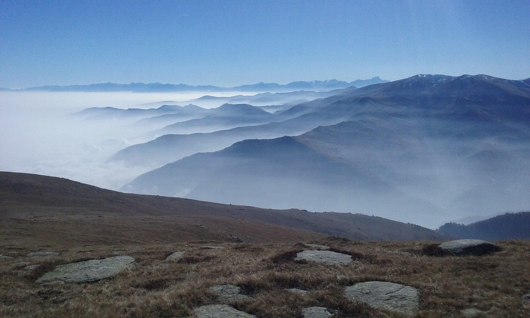 Sole e nuvole,nebbia e limpidezza