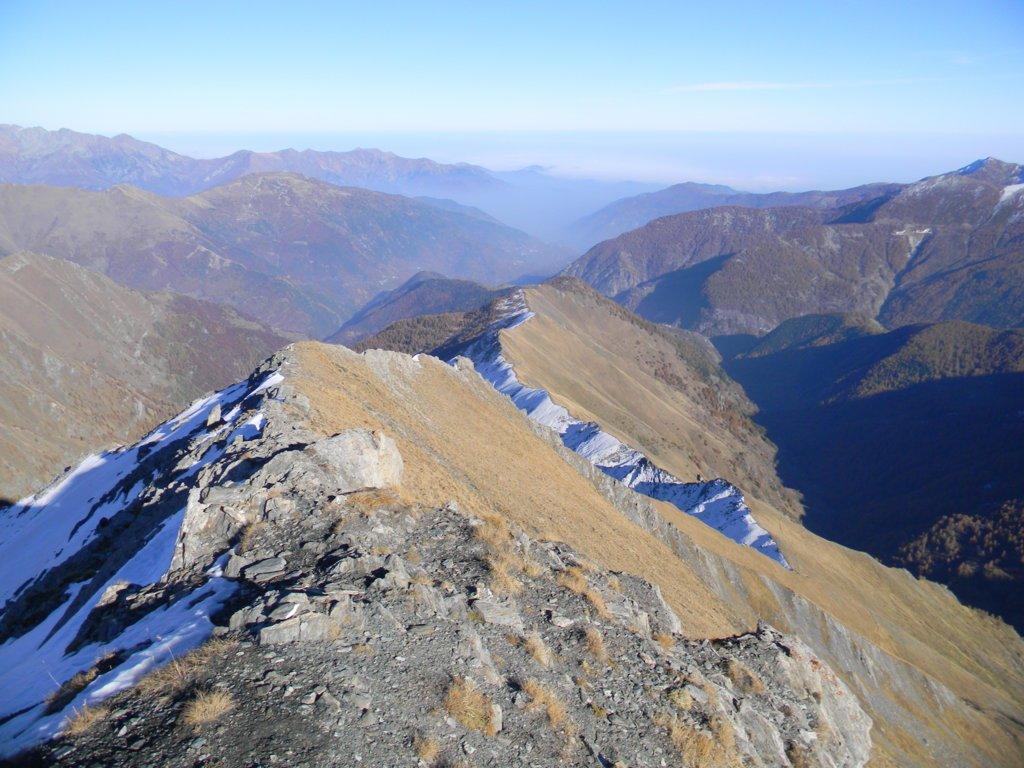dalla cima verso valle