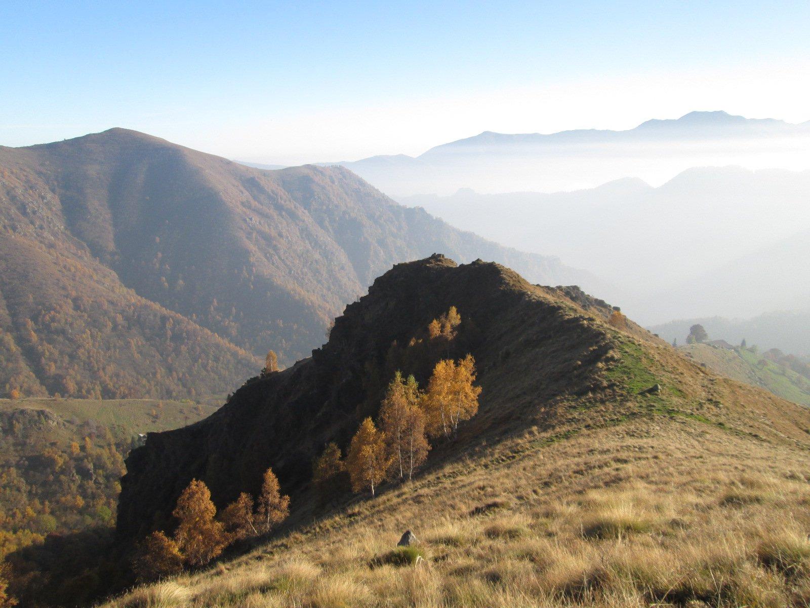 Vallone (Punta del) dal Santuario di Prascondù per il Colle Crest, anello per Cima Rosta 2016-11-01