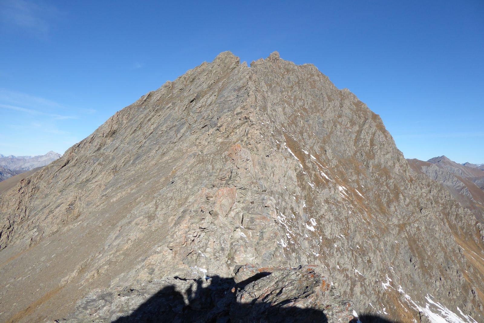la cresta vista dai pressi del colle di rodoretto