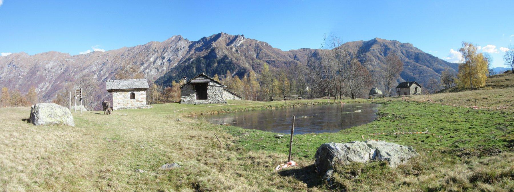 Alpe Argnaccia con il suo laghetto