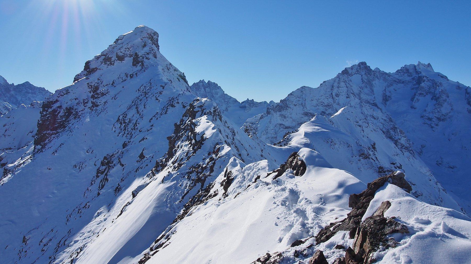 Combeynot (Pic Ouest du) dal Col de Lautaret 2016-11-14