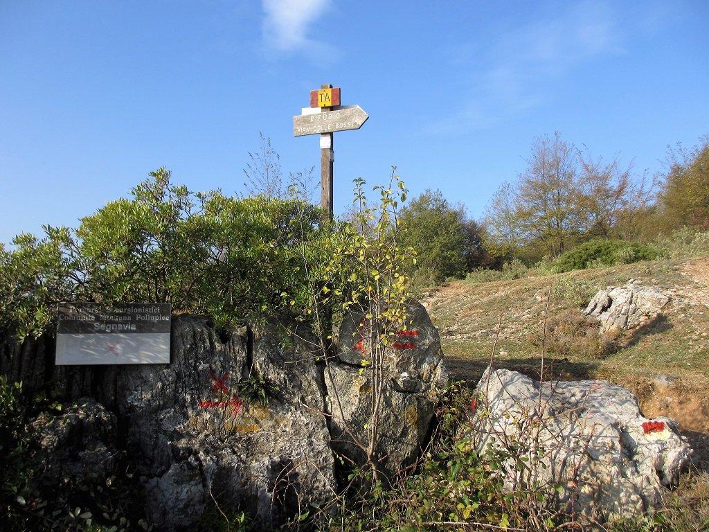 Cartelli e segnaletica nei pressi di San Pietrino