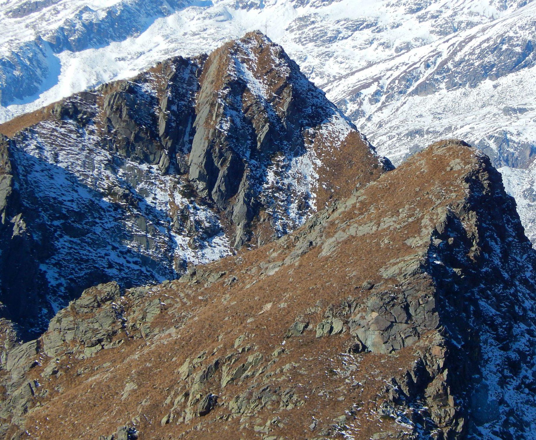 Rossa (Monte la) e Punta dell'Aggia dal Colle della Forchetta 2016-11-15