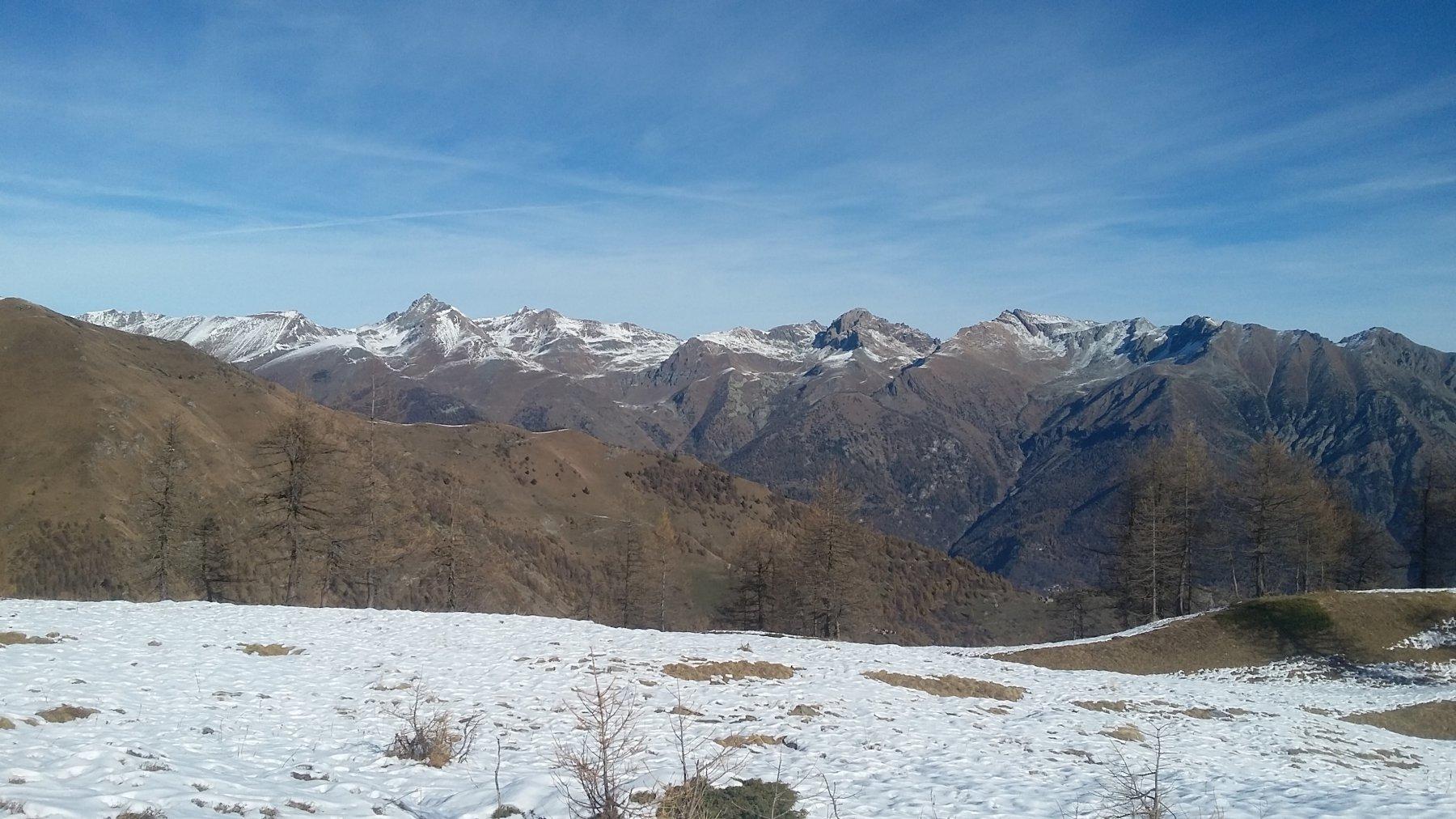 Dal Colle vista sull' Orsiera Rocciavrè