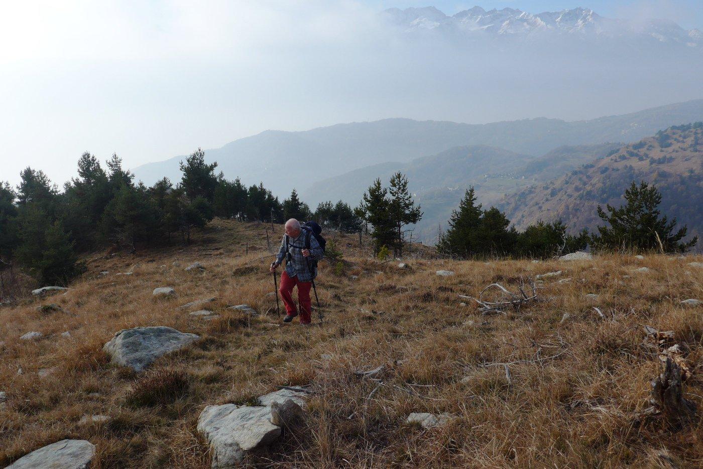Dopo il colletto 1503 m, tratto dove il sentiero si perde un po'