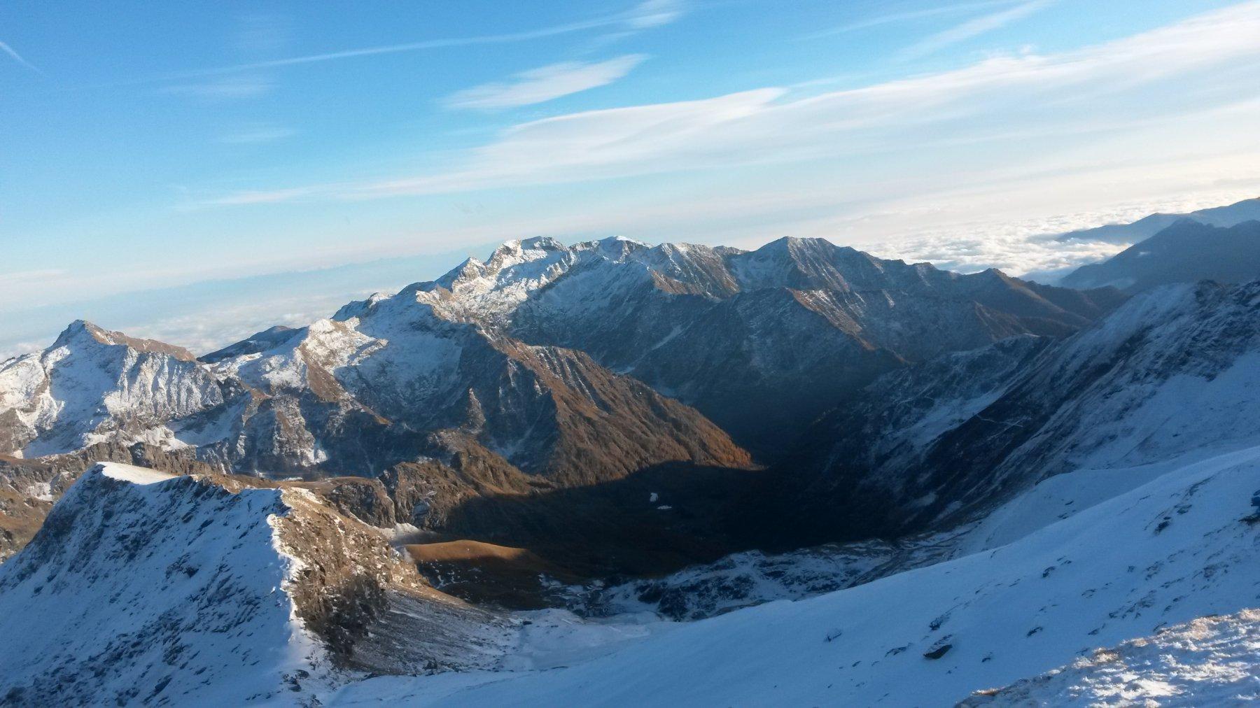 vista sulla Val Soana (nuvole sulla pianura piemontese)