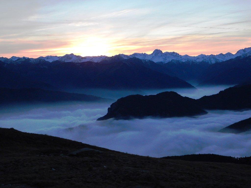 Scende la sera sulla Val Maira